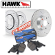 Hawk Performance Hyundai Genesis Coupe (10-13) Sector 27 Front Rotor Kit w/ HPS Pads